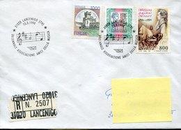 43580  Italia,special Postmark 1998 Lancenigo  Registered Circuled ,music Friends, Noten Of Amadeus Mozart - Music