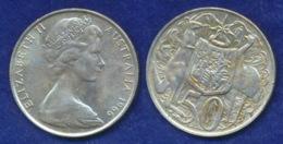 Australien 50 Cents 1966 Elisabeth II. Ag800 13.3g - Monnaie Décimale (1966-...)