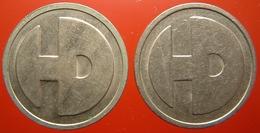 KB190-2a - HD Hunter Douglas 0 O'clock - Rotterdam - WM 22.5mm - Koffie Machine Penning - Coffee Machine Token - Firma's