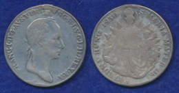 Ungarn 1/2 Taler 1830 Franz I. Ag900 Ösenlötstelle - Ungarn