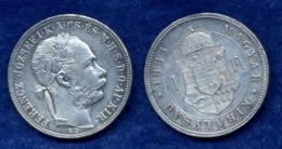 Ungarn 1 Forint 1885 Franz Joseph I. Ag900 12,3g - Ungarn