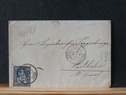 83/672  LETTRE SUISSE  1864 - 1862-1881 Helvetia Assise (dentelés)