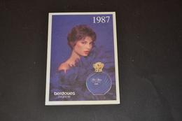 Mini Calendrier 1987 Parfum BERDOUES Parfum Folie Bleu - Calendriers