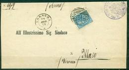 Z788 ITALIA REGNO 1878 NUMERALE 2912 CORNUDA Punti 8, Piego Amministrativo Affrancato Con VEII 10 C. E Annullo Numerale - 1861-78 Victor Emmanuel II.