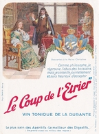 Etiquette De Vin Vierge Le Coup De L Etrier Domaine De La Durante A Castanet Tolosan Descartes Reine Christine Blason - Emperors, Kings, Queens And Princes