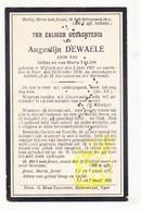 DP Augustijn Dewaele / Talon 18j. ° Wijtschate Heuvelland 1902 † Ieper 1920 - Images Religieuses