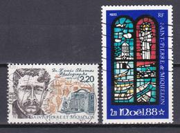 Saint Pierre Et Miquelon Centenaire De La Naissance Du Docteur Louis Thomas Noel Vitrail  N°488-496 Oblitéré - St.Pierre & Miquelon