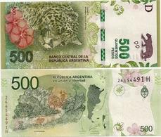 ARGENTINA    500 Pesos    P-365    ND (2016)    UNC  [suffix H - Sign. Sturzenegger - Michetti] - Argentina