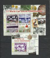 GAMBIA  2005   Soccer Football  75 Years Of First World Cup Team Of Brazil  Sheetlet+SS - Fußball-Weltmeisterschaft