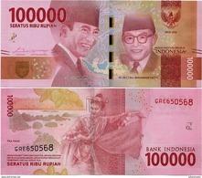 INDONESIA       100,000 Rupiah      P-160b       2016/2017   UNC  [ 100000 ] - Indonesia