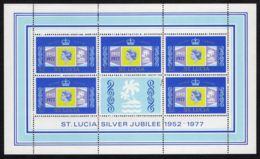 SAINTE-LUCIE ( POSTE ) Y&T N°  414/417  EN  BLOCS ,  TIMBRES  NEUFS  SANS  TRACE  DE  CHARNIERE . - St.Lucie (1979-...)