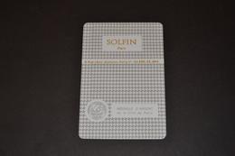 Mini Calendrier 1978/1979 Métallique SOLFIN Médaille D'argent De La Ville De PARIS - Calendriers