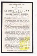 DP Leonie Delvoye ° Wijtschate Heuvelland 1841 † Ieper 1927 X Honoré Vanden Berghe - Images Religieuses
