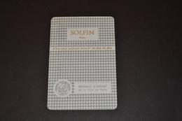 Mini Calendrier 1982/83 Métallique SOLFIN Médaille D'argent De La Ville De PARIS - Calendriers