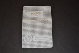 Mini Calendrier 1981/82 Métallique SOLFIN Médaille D'argent De La Ville De PARIS - Calendriers