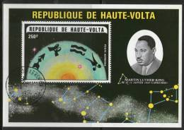 Burkina Faso Upper Volta 1978 Noble Prize Winner Martin Luthar King Non-Violence Zodiac Signs Sc C178 M/s Cancelled - Martin Luther King