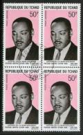 CHAD - TCHAD 1969 NOBLE PRIZE WINNER MARTIN LUTHER KING APOSTLES OF NON-VIOLENCE Sc C54 BLK/4 Cancelled # 5314B - Martin Luther King