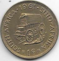 South Africa 1 Cent 1961 Km 57 Xf+ - Afrique Du Sud