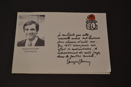 Mini Calendrier 1985 Votre Député Jacques Fleury Pour La Nouvelle Année PS - Calendriers