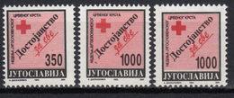 Yugoslavia,Red Cross 1993.,1000 Din In Both Perforations,MNH - 1992-2003 République Fédérale De Yougoslavie