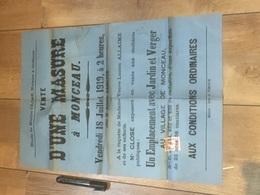 MONCEAU 1919 Vente D'1 Masure - Affiches