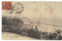 THONON LES BAINS - Vue Sur Le Port - Cachet Ambulant Le Bouveret A Bellegarde (111850) - Thonon-les-Bains