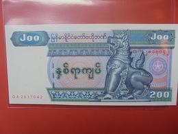 MYANMAR 200 KYATS 1991-98 UNC - Myanmar