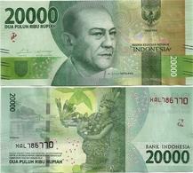 INDONESIA       20,000 Rupiah      P-158b       2016/2017   UNC  [ REPLACEMENT - 20000 ] - Indonesia
