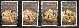 Gibraltar 2012 Yvertn° 1457-1460 *** MNH Cote 11,00 Euro Chess échec Schaken - Gibraltar