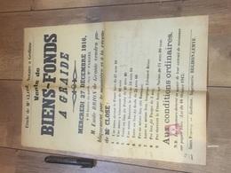 GRAIDE 1916 Vente De Biens Fonds-  À Voir - Posters