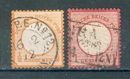 ALLEMAGNE , Empire ; 1872 ; Y&T N° 15-16 ; Oblitéré - Allemagne