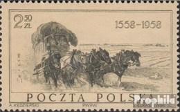 Pologne 1072 (complète.Edition.) Oblitéré 1958 400 Années Pol. Post - Usati