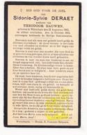 DP Sidonie S. Deraet ° Wijtschate Heuvelland 1862 † 1934 X Theodoor Bauwen - Images Religieuses