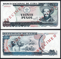 Cuba 20 Pesos 1991 UNC Specimen - Cuba