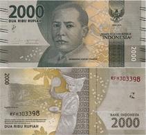INDONESIA       2000 Rupiah      P-155c       2016/2018   UNC - Indonésie