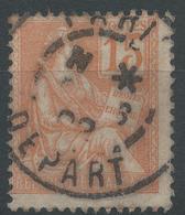 Lot N°46534  N°117, Oblit Cachet à Date De PARIS DEPART - 1900-02 Mouchon