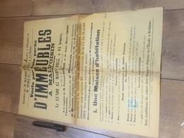 MALVOISIN 1933 Vente Immeubles Par Voie Parée Sise En Lieu Dit Grevy - Affiches