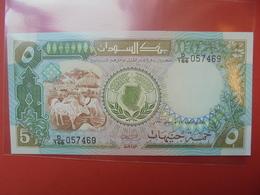 SOUDAN 5 POUNDS 1987-90 UNC - Soudan