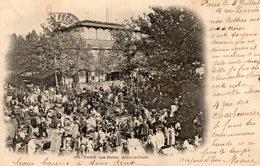 75. CPA.  PARIS.  Les Halles Centrales Avant La Cloche.   Scan Du Verso. 1902. - Halles