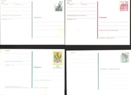 8769-Deutschland, Germany, Lot Of 4 Postal Stationery Post Cards – Postkarte – Ganzsache - BRD