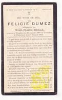 DP Felicie Dumez ° Warneton Waasten 1860 † Wijtschate Heuvelland 1924 X Henri Ch. Beele - Images Religieuses