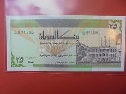 SOUDAN 25 DINARS 1992 UNC - Soudan