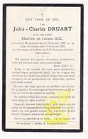 DP Jules Charles Druart / Six ° Wijtschate Heuvelland 1877 † 1932 - Images Religieuses