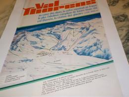 ANCIENNE PUBLICITE   STATION DES GLACIER VAL THORENS 1969 - Publicité