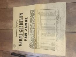GROND GOEDEREN 30 Juny 1853  VAN ZANDE KERK FABRIEK VAN GEMELDE ZAND ! - Affiches