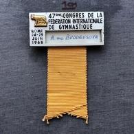 Badge Pin ZN008128 - Gymnastics Federation Congress Italy Rome 1968-06-24 - Ginnastica