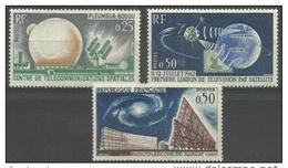 France - 1962 Satellite Link MH*  SG 1587-9 - Unused Stamps