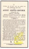 DP Boswachter Garde - August Leopold Denturck ° Wijtschate Heuvelland 1871 † Houthulst 1937 X Amelie Bouten - Images Religieuses