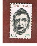 STATI UNITI (U.S.A.) - SG 1307 - 1967 H.D. THOREAU, WRITER  - USED° - Stati Uniti