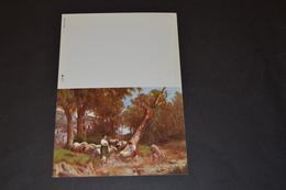 Mini Calendrier 1989 Reproduction Tableau Bergère Et Moutons - Calendriers